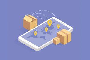 tela de celular mostrando o GPS e as melhores rotas para melhorar o serviço de entregas